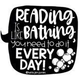 Reading is Like Bather Poster