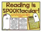 Reading is SPOOKtacular! Book reviews, summaries, NO PREP Bulletin Board!