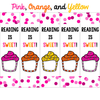 Reading is Sweet! Cupcake Bookmarks for Students
