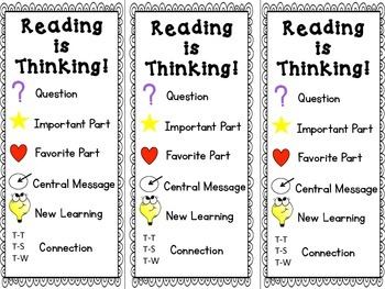 Reading is Thinking Bookmark {Freebie}