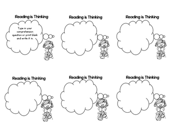 Reading is Thinking Comprehension Book Marks