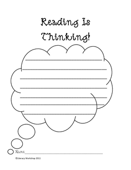 Reading is Thinking Graphic Organizers