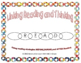 Reading is Thinking-Making Connections Bookmark and Graphi