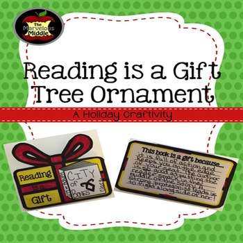 Reading is a Gift Tree Ornament