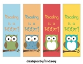 Reading is a Hoot!  Bookmarks