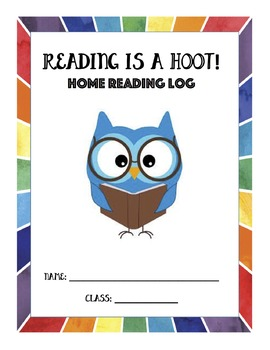 Reading is a Hoot! Reading Log FULL YEAR