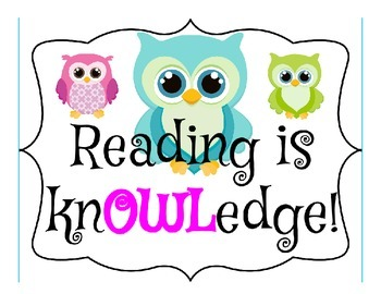 Reading is knOWLedge Poster