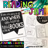 Reading is my Jam (Reading Journal and Reading Quotes)