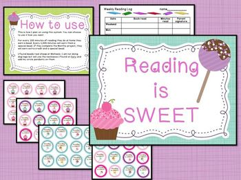 Reading is sweet-homework and monthly projects