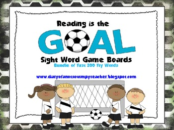 Reading is the Goal- Bundle of the first 300 Fry words!