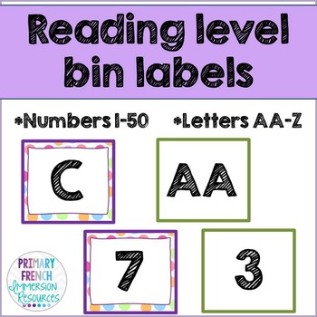 Reading level bin labels