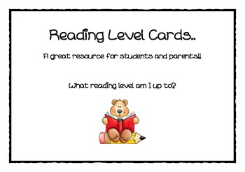 Reading level cards