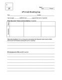 Reading log and Book Report form