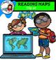 Reading maps clip art