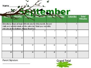 Reading Calendars (FULL YEAR OF READING!!!)