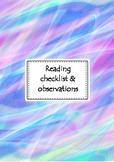 Reading & observation checklist