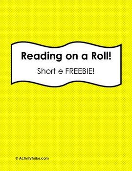 Reading on a Roll:  Short e FREEBIE