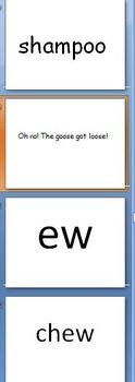 Reading oo, ew, and u_e words
