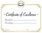 Reading or English Class or Literature Award Certificate {Editable}
