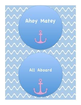 Reading or Math Groups Nautical