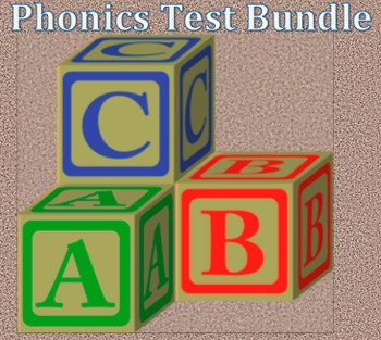 Reading phonics placement test and phonics asessment bundle