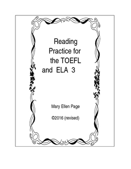 Reading practice for TOEFL or Language Arts.3
