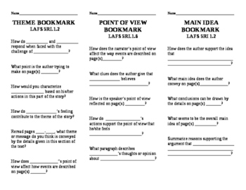 Reading question bookmarks