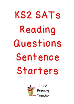 Reading question starters