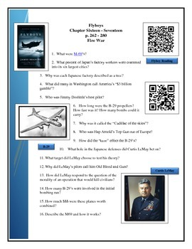 Reading questions - WWII Japan - Book by James Bradley FLYBOYS