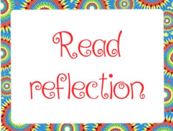 Reading reflection