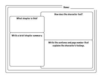 Reading response - character traits