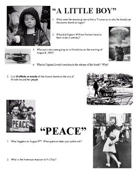 "Joy Hakim's ""War, Peace and All that Jazz"" Chapters 43 & 44 Worksheet"