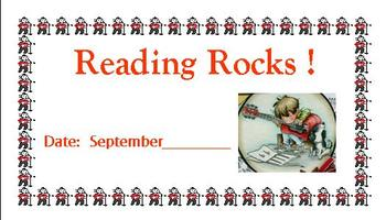 """Reading reward cards-""""Reading Rocks"""""""