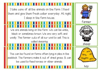 Reading riddles farm themed