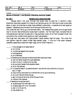Reading skills review 2