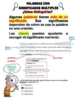 Reading strategies in Spanish