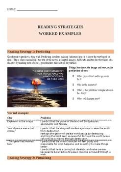 Reading strategies modeled practice
