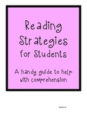 Reading strategies summary sheet for students