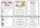 Reading strategies tri-fold bookmark