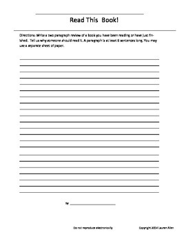 independent Reading strategies worksheets