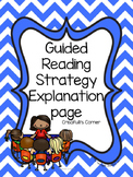Reading strategy explanation page