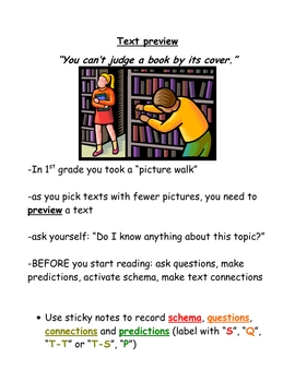 Reading strategy mini posters