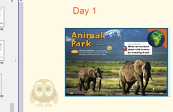 Reading street Animal park day 1-3