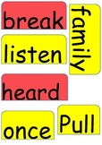 Reading street Fire Fighter focus wall High Frequency words
