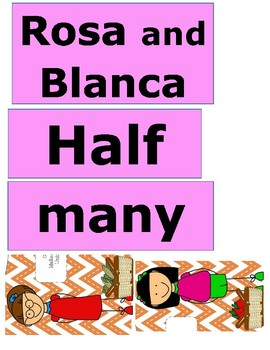 Reading street Rosa and Blanca High Frequency words