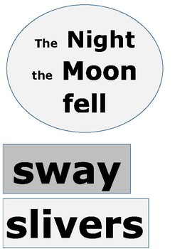 Reading street The night Moon fell high frequency words