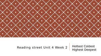 Reading street Unit 4 Week 2 Hottest Coldest Highest Deepest ppt.