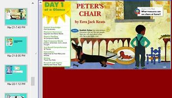 Reading street unit 4 week 5 Peters chair