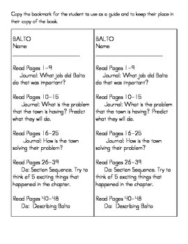 """Reading system for """"The Bravest Dog Ever, The True Story of Balto"""""""