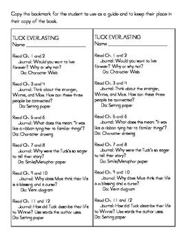 Reading system for Tuck Everlasting
